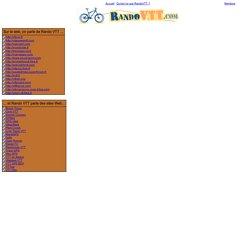 Rando VTT : Le VTT sur le web