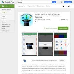 Team Shake: Pick Random Groups - Aplicaciones Android en Google Play