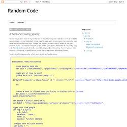 Random Code: A bookshelf using jquery