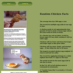 Random Chicken Facts