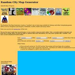 Random City Map Generator