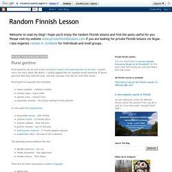 Genitiv pluralis Random Finnish