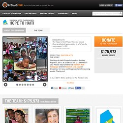 Hope to Haiti | RANDOM ACTS