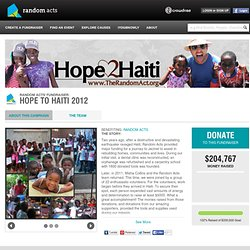 Hope to Haiti 2012 | RANDOM ACTS