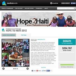 Hope to Haiti 2012 | RANDOM ACTS