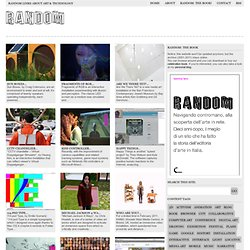 Random Magazine - New Media Art / E-culture