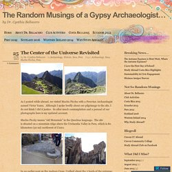 The Random Musings of a Gypsy Archaeologist...
