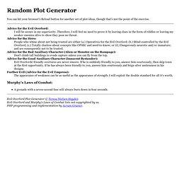 Random Plot Generator