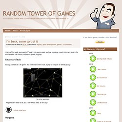 Random tower of games