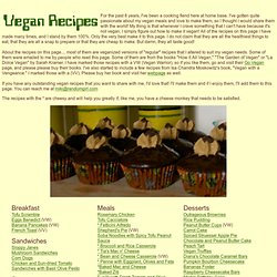 Random Vegan Recipes