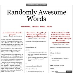 Randomly Awesome Words