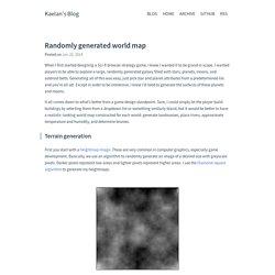 Randomly generated world map · Kaelan Cooter