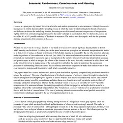essay on consciousness