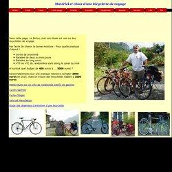 Etude pour l'achat d'une randoneuse et autres bicyclettes ou vélo de voyages