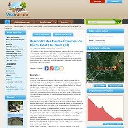 Descendre des Hautes Chaumes: du Col du Béal à la Ramie (63)
