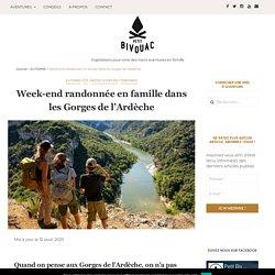 Week-end randonnée en famille dans les Gorges de l'Ardèche - Petit Bivouac