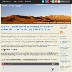 Russie - Randonnée itinérante en boucle entre Khuzir et le sud de l'île d'Olkhon - Journaux de voyages