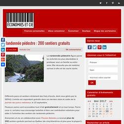 Randonnée pédestre : 200 sentiers gratuits - Économies et cie