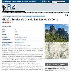 GR20 - Randonnées et trekking