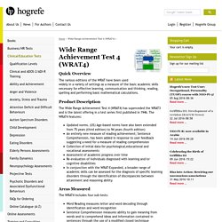 Wide Range Achievement Test 4 (WRAT4)