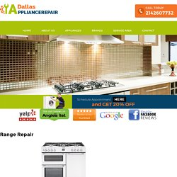 Range Appliance Repair Dallas