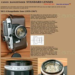 Canon Rangefinder Cameras and Lenses of the 1950's and 1960's: The 50mm's