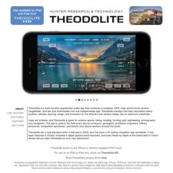 Theodolite iPhone App: Augmented Reality Compass, GPS, Map, Zoom Camera, Rangefinder, Inclinometer