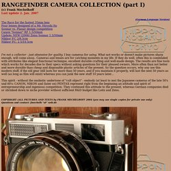 Rangefinder Cameras and Lenses of the 1950's and 1960's / CANON and VOIGTLANDER