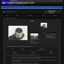 Contax and Nikon S lenses to Sony Nex adapter. - Rangefinderforum Photo Equipment Classifieds
