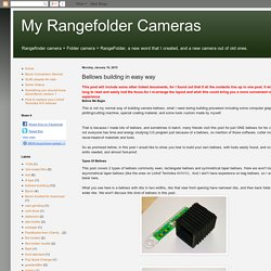 My Rangefolder Cameras: Bellows building in easy way