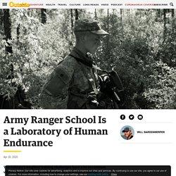 Army Ranger School Is a Laboratory of Human Endurance