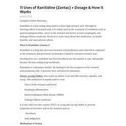 11 Uses of Ranitidine (Zantac) + Dosage & How it Works – Telegraph