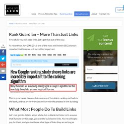 Rank Guardian – More Than Just Links - Niche Site Azon