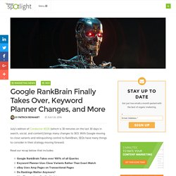 Google RankBrain Finally Takes Over, Keyword Planner Changes, and More - Conductor Spotlight