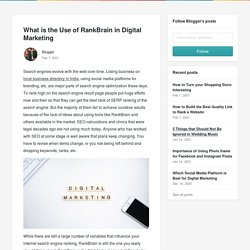 What is the Use of RankBrain in Digital Marketing - Blogger