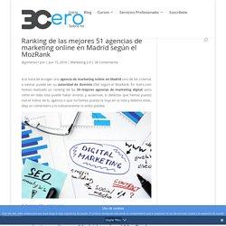 Ranking de las mejores 51 agencias de marketing online en Madrid según el MozRank