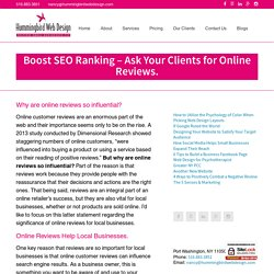 Boost SEO Ranking – Ask Your Clients for Online Reviews