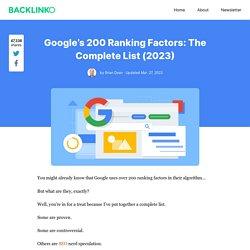 Google's 200 Ranking Factors: The Complete List (2019)