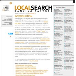 Local Search Ranking Factors | Google & Yahoo Local SEO Best Pra