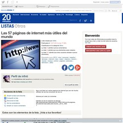 Ranking de Las 57 páginas de internet más útiles del mundo