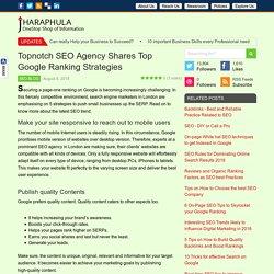 Top 5 Google Ranking Strategies from Topnotch SEO Agency