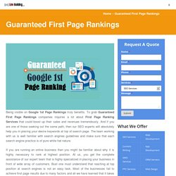 Why to Get Google First Page Ranking Services to Boost Sales?
