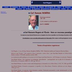 Carl Ransom Rogers et l'école, vers un nouveau paradigme
