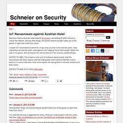 IoT Ransomware against Austrian Hotel