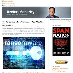Ransomware Now Gunning for Your Web Sites