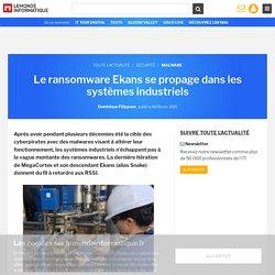 Le ransomware Ekans se propage dans les systèmes industriels