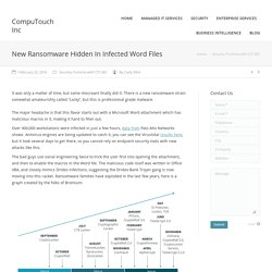 New Ransomware Hidden In Infected Word Files - CompuTouch Inc