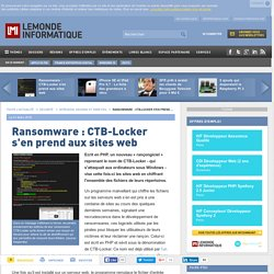 Ransomware : CTB-Locker s'en prend aux sites web