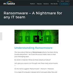 Ransomware – A Nightmare for any IT team - Motadata