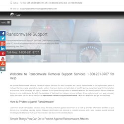 Ransomware Removal Support Services Call 1-800-2813707